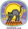 Black Cats Vector Clip Art graphic