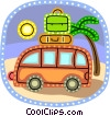 Minivans Vector Clipart illustration