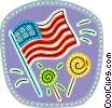 Vector Clip Art image  of a USA Flag