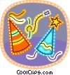 Vector Clipart graphic  of a party hats and noise makers