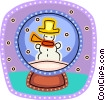 Vector Clip Art picture  of a Snowmen Snowman