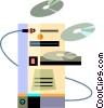 Vector Clip Art image  of a Computer Desktop Systems