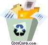 Vector Clipart graphic  of a Blue Boxes or Recycle Box