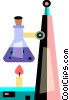 Vector Clip Art graphic  of a Bunsen burners