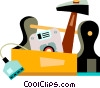 Computer Service and Repair Vector Clip Art graphic