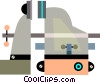 Vices and Clamps Vector Clipart graphic