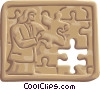Pieces of a Puzzle Vector Clip Art picture