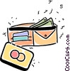 Vector Clip Art picture  of a Wallets