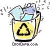 Vector Clip Art picture  of a Blue Boxes or Recycle Box