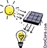 Vector Clip Art picture  of a Solar