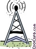 Vector Clipart picture  of a Communication Towers