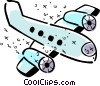 Commercial Jets Vector Clipart illustration