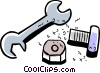 Vector Clip Art graphic  of a Wrenches