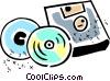 Vector Clip Art graphic  of a CD-ROM Media