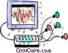 Computer Desktop Systems Vector Clipart image
