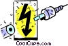 Vector Clip Art image  of a Wire and Cables
