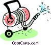 Vector Clip Art image  of a Garden Hoses