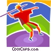 Vector Clip Art graphic  of a Javelin