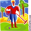 Vector Clipart image  of a Polo Players