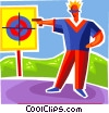 Man shooting gun Vector Clipart graphic