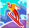 Ski Jumping Vector Clipart graphic
