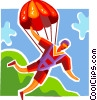 Man Skydiving Vector Clipart picture