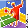 Vector Clipart graphic  of a Player