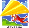 Parasailing  Paragliding Vector Clipart illustration
