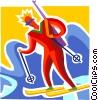 Biathlon Vector Clip Art image
