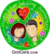 Vector Clipart illustration  of an Anniversaries