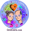 Vector Clipart picture  of an Anniversaries