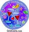 Vector Clip Art picture  of an Anniversaries