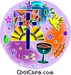 Vector Clip Art graphic  of a Religious Ceremony