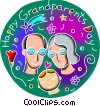 Vector Clipart picture  of a Senior Citizens