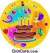 Vector Clip Art image  of a Happy Birthday design