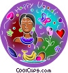 Vector Clip Art image  of a New Year's Day