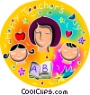 Vector Clipart graphic  of a Teacher's Day