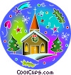Vector Clip Art picture  of a Churches