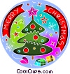 Vector Clipart picture  of a Christmas tree with message