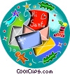 Vector Clipart illustration  of a Letter to Santa