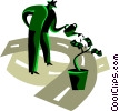 Vector Clip Art graphic  of a Growth