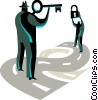 Vector Clip Art image  of a target and objectives