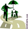 Vector Clip Art graphic  of a Insurance concept