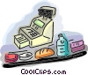 items at the grocery store Vector Clipart illustration