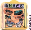 Vector Clip Art picture  of a shoe store