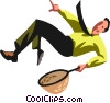 Businessman  falling Vector Clip Art graphic