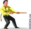 tug-of-war Vector Clipart illustration