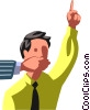 hand silencing man Vector Clip Art picture