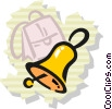 Vector Clip Art picture  of a School Bells