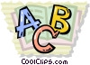 Vector Clip Art graphic  of an alphabet